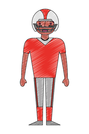 sport man player american football vector illustration drawing