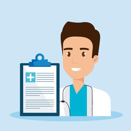 doctor character medical healthcare vector illustration design Illustration