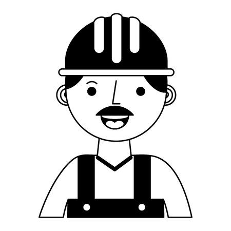 construction builder avatar character vector illustration design Фото со стока