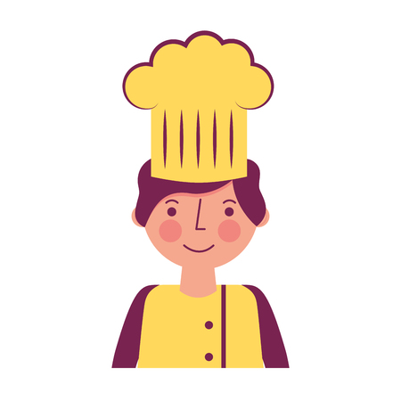 chef man professional worker portrait vector illustration