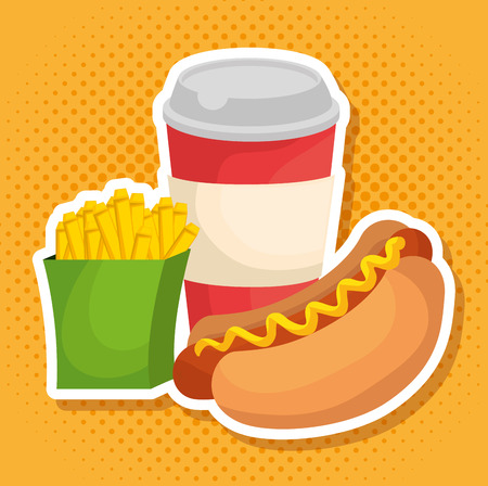 fast food restaurant menu vector illustration design