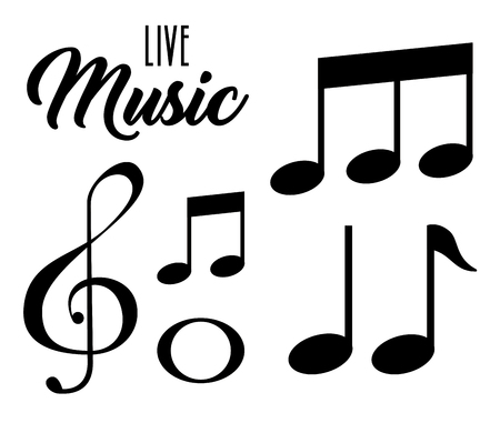 live music notes patern vector illustration design Ilustracja