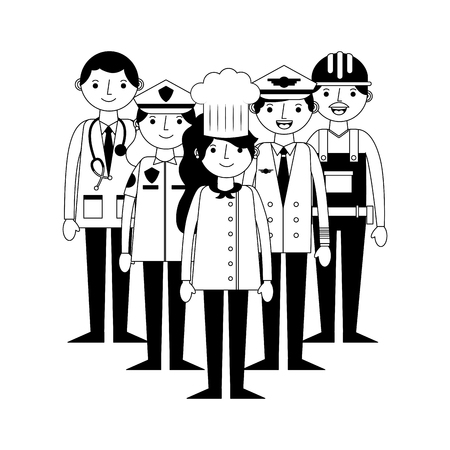 group of workers characters vector illustration design Banque d'images - 105316567