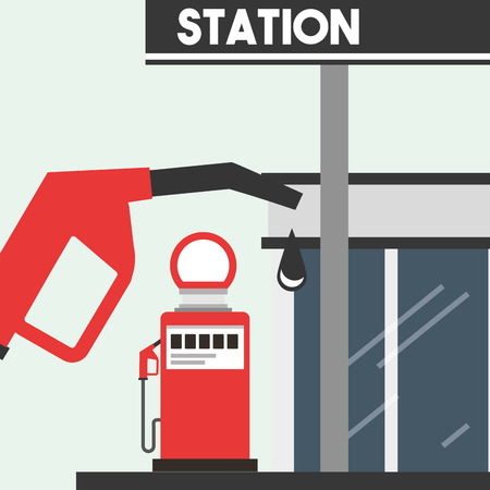 gas filling station service oil industry vector illustration