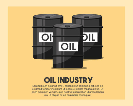 petroleum barrels crude oil industry vector illustration Фото со стока - 105264444