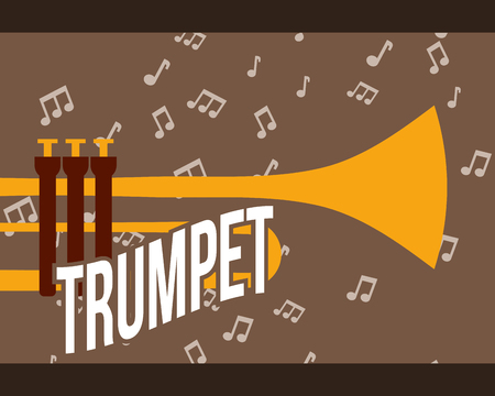 jazz festival instruments trumpey music notes play vector illustration