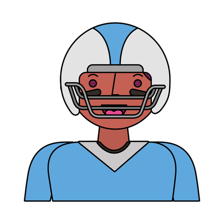 american football player character vector illustration design Stock Photo