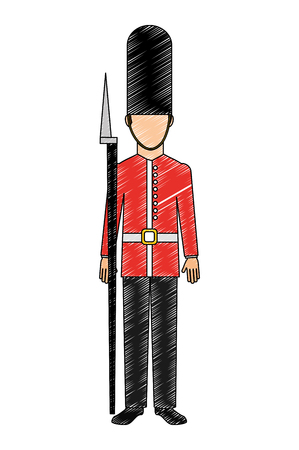 soldier of london isolated icon vector illustration design