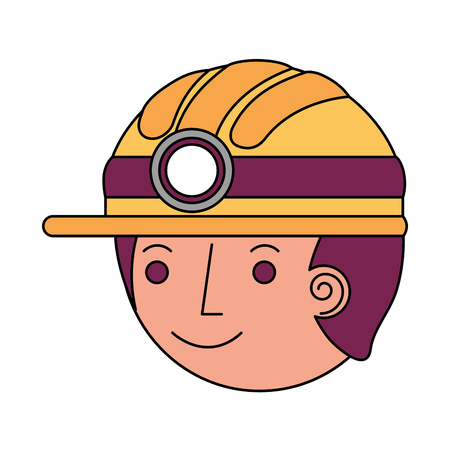 firefighter head avatar character icon vector illustration design Illustration