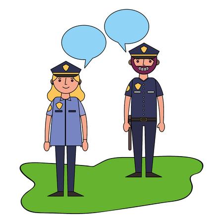 Officier police personnage icône vector illustration design