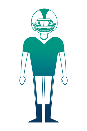 sport man player american football vector illustration gradient design