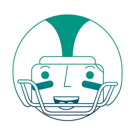 sport man player american football face character vector illustration gradient design