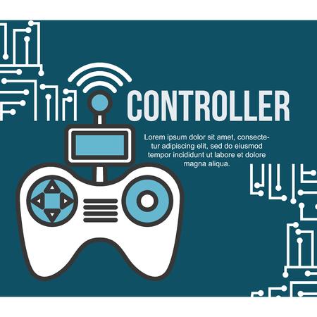 drone technology futuristic controller game signal screen vector illustration Stock Photo