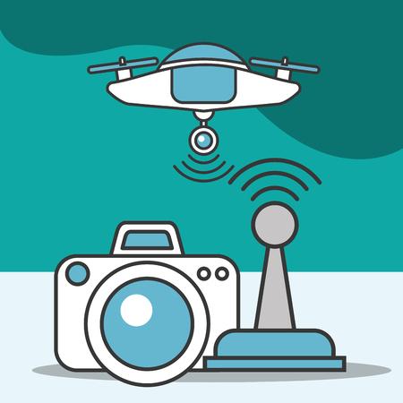 drone camera photo antenna signal technology futuristic