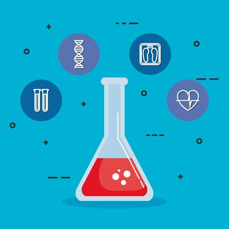 tube test healthcare medical icons vector illustration design