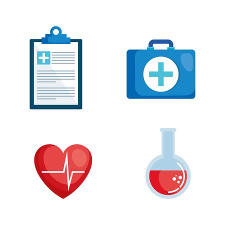 healthcare medical set icons vector illustration design Zdjęcie Seryjne