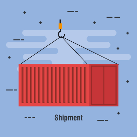 shipment container delivery service vector illustration design