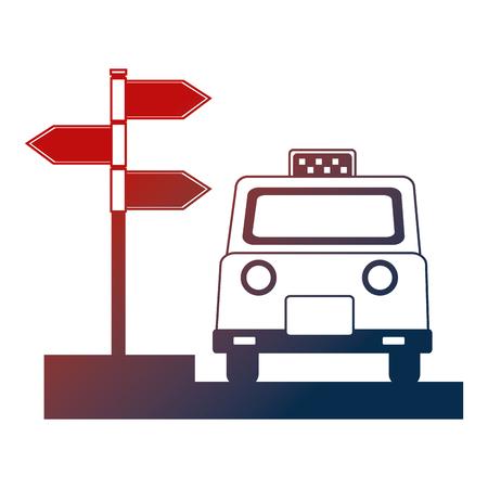 taxi service public arrow direction location vector illustration Archivio Fotografico - 114727918