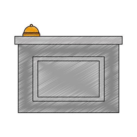 hotel reception isolated icon vector illustration design