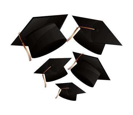 graduation hat accessory school design vector illustration