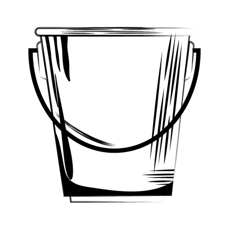 bucket liquor silhouette icon vector illustration design
