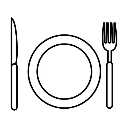 dish with cutleries icons vector illustration design