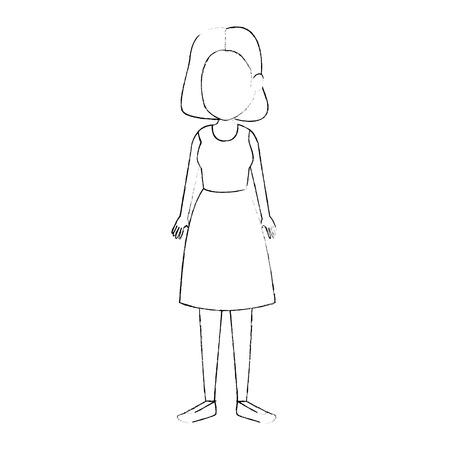 beautiful and young woman character vector illustration design Illusztráció