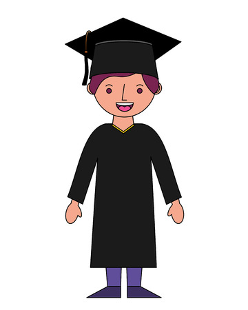 student boy graduted avatar character vector illustration design Stok Fotoğraf - 114808621