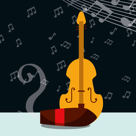 jazz festival tobacco smoke cello music play vector illustration