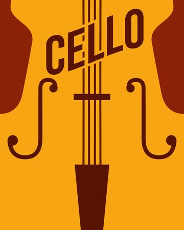 jazz festival instruments cello music play vector illustration
