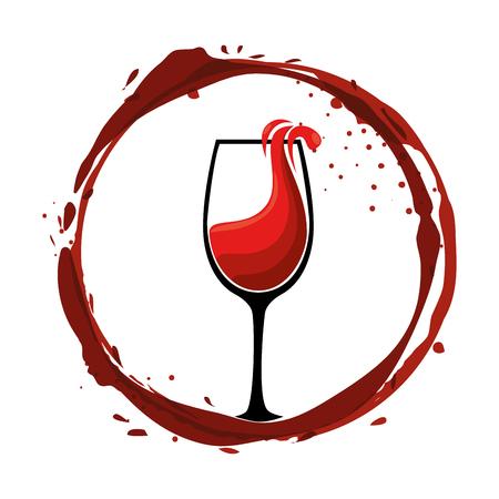 wine cups silhouettes icon vector illustration design
