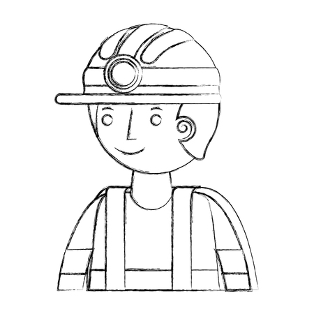 firefighter avatar character icon vector illustration design