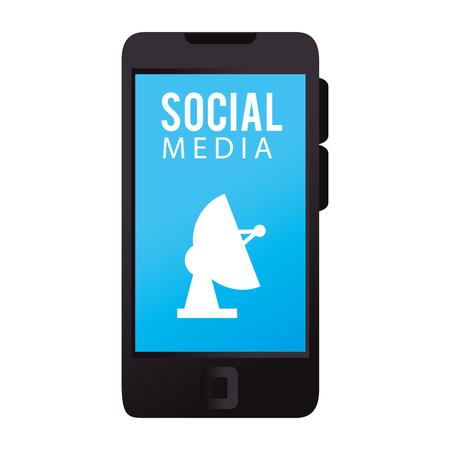 smartphone with social media icon vector illustration design 일러스트