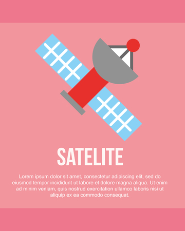 news communication pink background  satellite  signal vector illustration