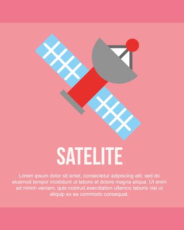 news communication pink background  satellite  signal vector illustration