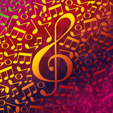 live music notes patern vector illustration design Иллюстрация