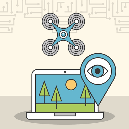 drone laptop secure surveillance digital