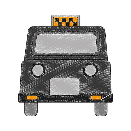 london taxi isolated icon vector illustration design