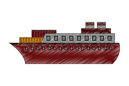 ship boat isolated icon vector illustration design