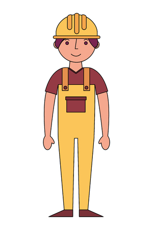 construction builder avatar character vector illustration design Иллюстрация
