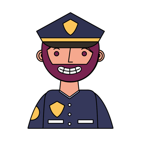 officer police character icon vector illustration design