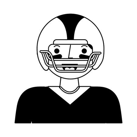 american football player character vector illustration design 向量圖像