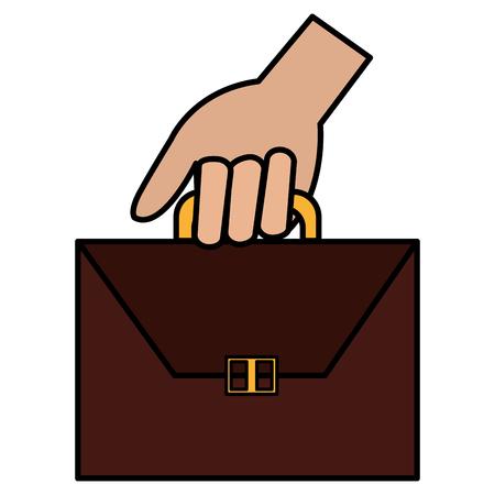 hand with portfolio icon vector illustration design 일러스트