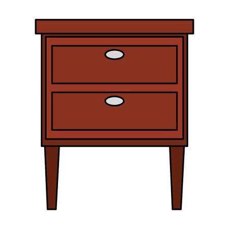 wooden drawer isolated icon vector illustration design Archivio Fotografico - 112380686