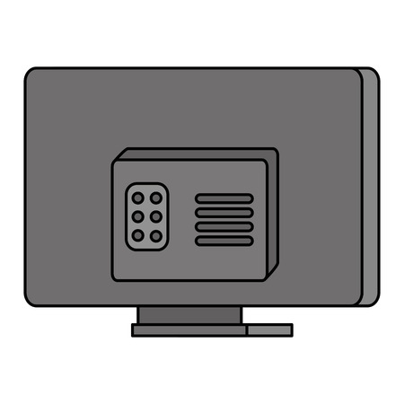 modern tv back isolated icon vector illustration design  イラスト・ベクター素材