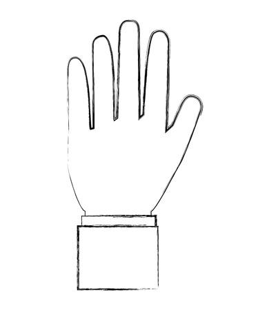 hand showing five fingers image vector illustration sketch Standard-Bild - 112380716