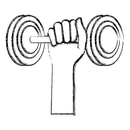 hand lifting dumbell icon vector illustration design Reklamní fotografie - 105619819