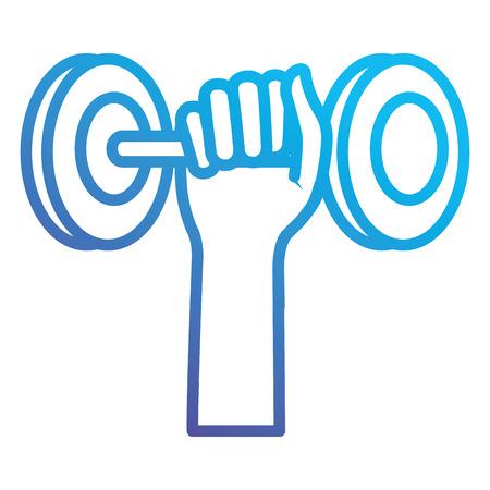 Handheben Hantel Symbol Vektor-Illustration Design