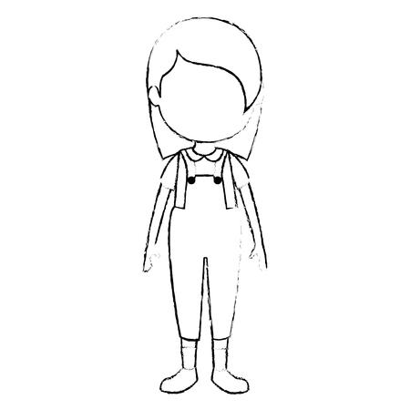 cute and little girl character vector illustration design Standard-Bild - 112380747