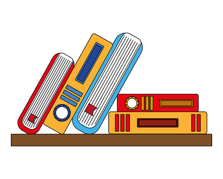 library books isolated icon vector illustration design